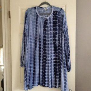 NWOT Beautiful blue t-dye dress by Umgee Sz large.